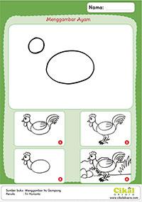 menggambar ayam
