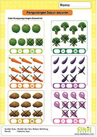 menghitung sayuran