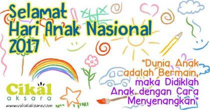 selamat hari anak nasional 2017