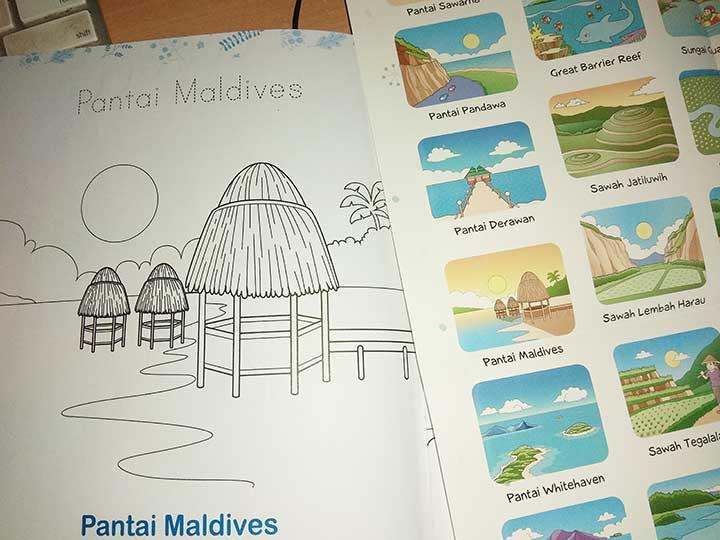 mewarnai pantai maldives cikal aksara