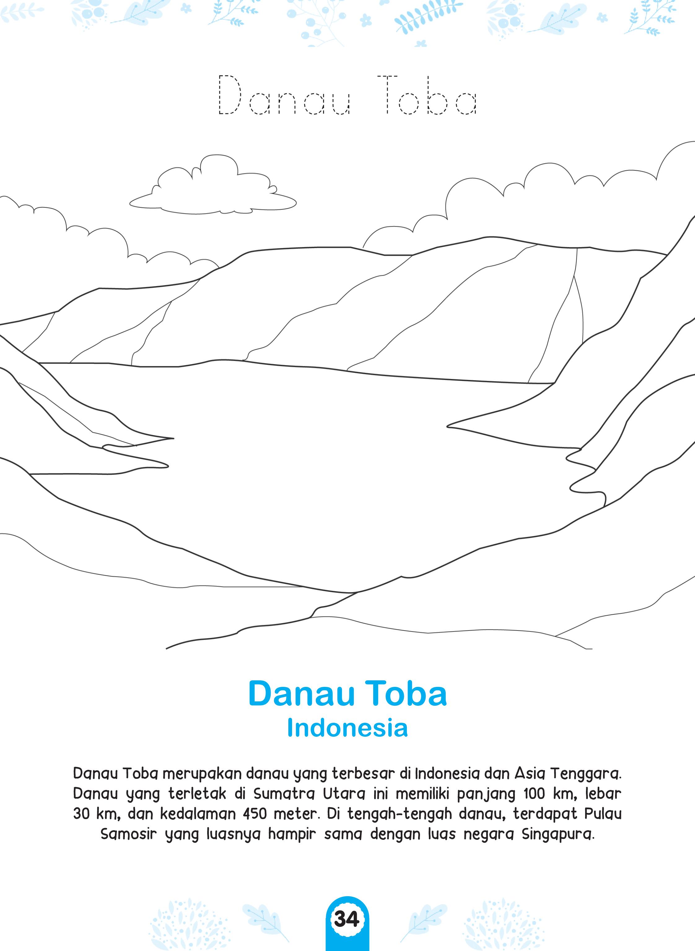 Manfaat Mewarnai Pemandangan Alam Danau Toba Cikal Aksara
