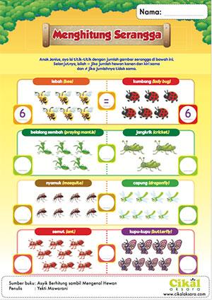 menghitung serangga cikal