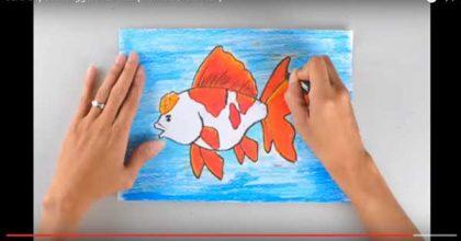 Cara cepat Menggambar dan Mewarnai Ikan