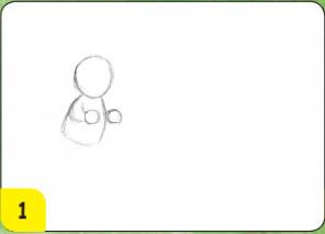 menggambar orang dan aktivitas dengan oil pastel