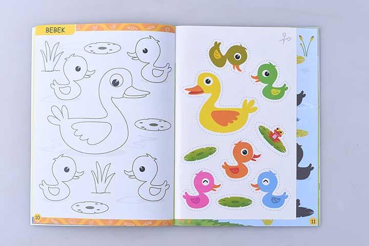 pola gambar bebek untuk digunting