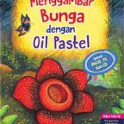 menggambar bunga dengan oil pastel