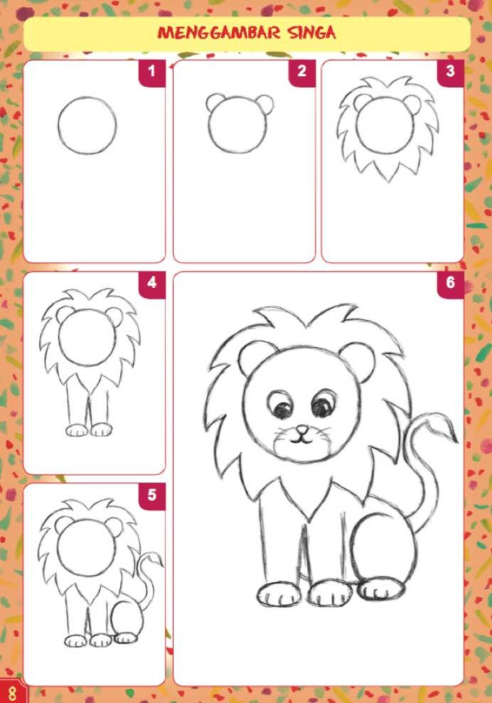 760 Gambar Mewarnai Binatang Singa Terbaru