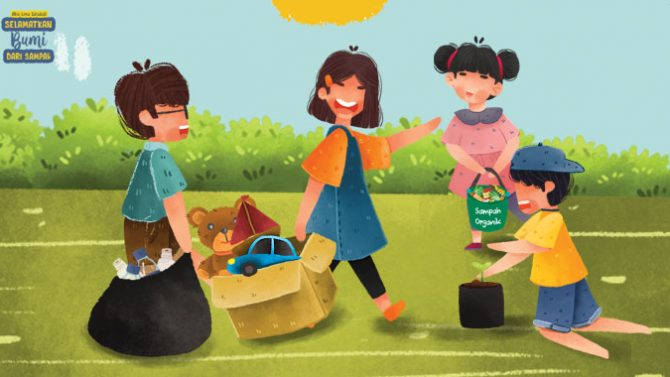 cintai bumi dan mengelola sampah