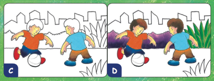 mewarnai anak main bola