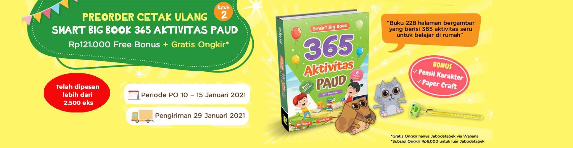 Slide Banner PreOrder Cetak Ulang Smart Big Book 365 Aktivitas PAUD