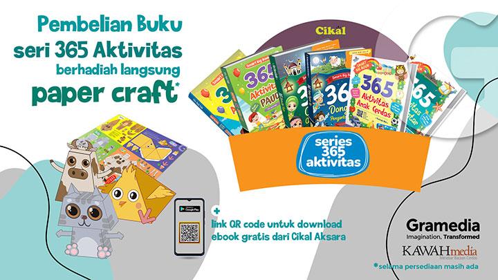 pembelian buku seri 365 aktivitas berhadiah langsung paper craft